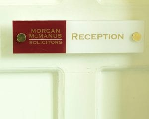 Reception-Sign